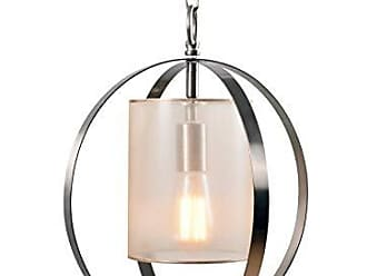 Kenroy Home 93951BS Casual 1 Light Mini Pendant, 13 Inch Diameter, Clear Mesh and Gold Shade with Brushed Steel and Translucent Champagne Finish