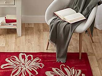 Simons Maison Red flower velvet rug 65 x 110 cm