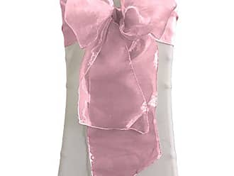 LA Linen 10-Pack Organza Sashes Chair Bows, Hot Pink