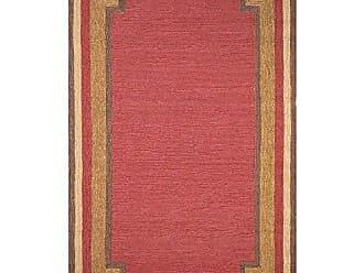 Liora Manne Ravella Border Rug, Indoor/Outdoor, 7-Feet 6-Inch by 9-Feet 6-Inch, Red