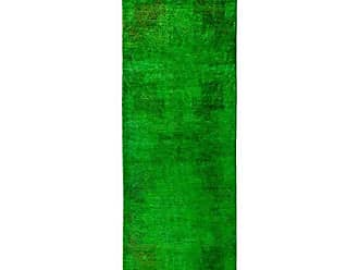 Solo Rugs Vibrance Hand Knotted Runner Rug 3 0 x 8 10 Green