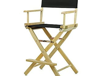Yu Shan Casual Home 24 Directors Chair Natural Frame with Black Canvas, Counter Height