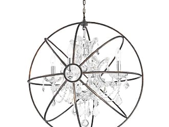 Worldwide Lighting W8319024 Armillary 4 Light 24 Wide Crystal Globe