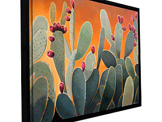 ArtWall Rick Kersten Floater Framed Gallery Wrapped Canvas Art, 24 by 32-Inch, Cactus Orange