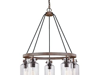 Vaxcel Lighting H0198 Milone 5 Light 26 Wide Ring Chandelier with a
