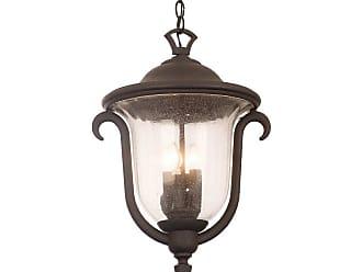 Kalco Santa Barbara Outdoor 3-Light Med. Hanging Lantern in Matte Black