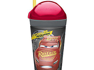 Zak designs Cars 3 ZakSnak All-In-One Drink Tumbler + Snack Container For Toddlers - Spill-proof 4oz Snack Container Screws Securely Onto 10oz Tumbler With Accessible Straw, Cars 3