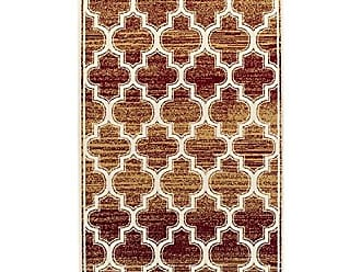 Home City Inc. Superior Bohemian Trellis Collection Area Rug, 8mm Pile Height with Jute Backing, Chic Geometric Trellis Pattern, Fashionable and Affordable Woven Rugs, 8 x 10 Rug, Gold