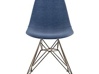 NyeKoncept 331006EM2 Mid Century Eiffel Side Chair, Dodger Blue