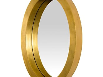 Varaluz Ringleader 27.5 Oval Mirror in Gold Leaf