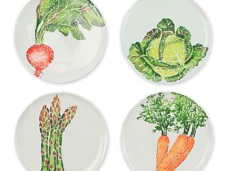 Vietri Spring Vegetables Assorted Salad Plates, Set of 4
