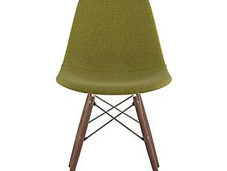 NyeKoncept 331002EW2 Mid Century Dowel Side Chair, Avocado Green