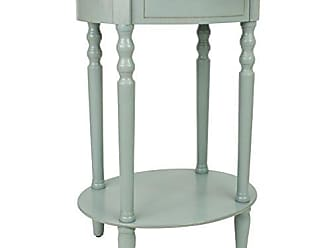 Decor Therapy FR1540 End Table, Antiqued Iced Blue