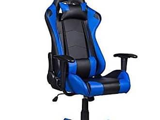 Pelegrin Cadeira Gamer Pelegrin Em Couro PU Reclinável PEL-3012 Preta E Azul