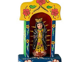 Novica Wood sculpture, Shrine to Our Lady of Guadalupe - Central American Christianity Wood Sculpture