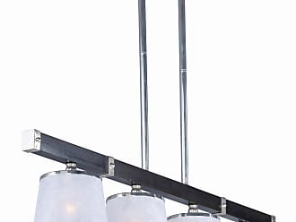 Maxim Lighting Maritime 4-light Linear Pendant in Wenge and Polished Nickel
