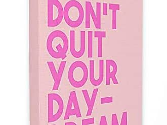 Stupell Industries The Stupell Home Décor Collection lulusimonSTUDIO Pink Dont Quit Your Daydream Block Typography Stretched Canvas Wall Art, 16 x 1.5 x 20