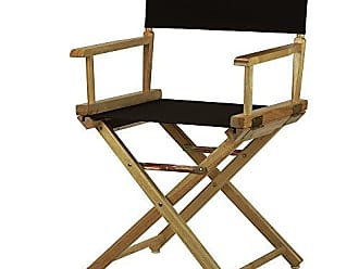 Yu Shan Casual Home 18 Directors Chair Natural Frame with Black Canvas