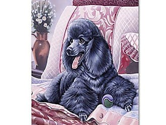 Trademark Global Black Poodle by Jenny Newland, 14x19-Inch Canvas Wall Art