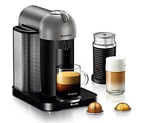 Breville Nespresso Vertuo Coffee and Espresso Machine Bundle with Aeroccino Milk Frother by Breville, Titan