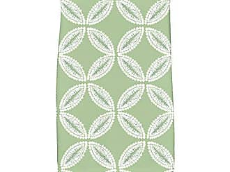E by Design KTG768GR41 Tidepool Geometric Print Kitchen Towel 16 x 25 Green