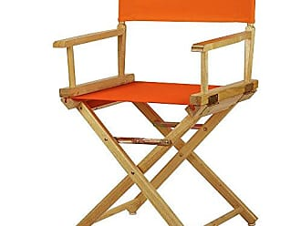 Yu Shan Casual Home 18 Directors Chair Natural Frame with Tangerine Canvas