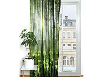 home wohnideen gordijn groen bos