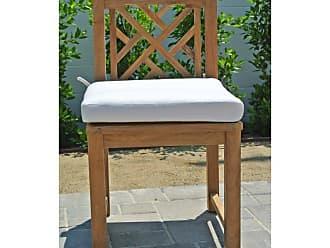 Willow Creek Designs Outdoor Willow Creek Designs Monterey Teak Dining Armless Chair with Sunbrella Cushion Canvas Heather Beige - WC-12-5422
