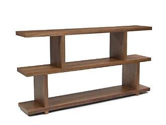 Moe's 63 by 32-Inch Miri Small Shelf, Walnut Veneer