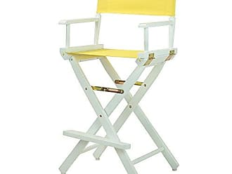 Yu Shan Casual Home 30 Directors Chair White Frame-with Yellow Canvas, Bar Height
