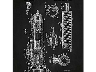 Inked and Screened SP_Vint_2,737,946_CH_24_W Hypodermic Injection Apparatus-G.N. Hein Jr-1956, 18 x 24 Chalkboard - White Ink