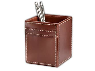 Dacasso Rustic Brown Leather Pencil Cup