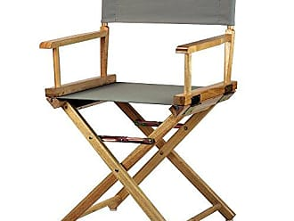 Yu Shan Casual Home 18 Directors Chair Natural Frame with Grey Canvas