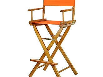 Yu Shan Casual Home 30 Directors Chair Honey Oak Frame-with Tangerine Canvas, Bar Height