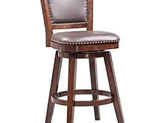 Boraam 51829 Broadmoor Swivel Barstool, 44-Inch, Cappuccino