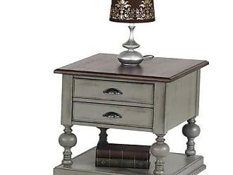 Progressive Furniture T580-04 Colonnades Rectangular End Table, Weathered Grey/Oak