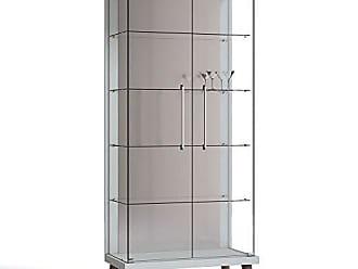 Imcal Cristaleira Tifanny 02 Portas de Vidro Branco Acetinado - Imcal