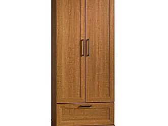 Sauder Sauder 411802 HomePlus Wardrobe/Storage Cabinet, L: 28.98 x W: 20.95 x H: 71.18, Sienna Oak finish