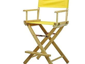 Yu Shan Casual Home 24 Directors Chair Natural Frame with Yellow Canvas, Counter Height
