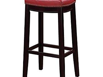 Linon Linon 55816RED01U Claridge Bar Stool, 32 x 18.75 x 13, Red