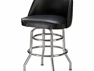 Regal Bucket Seat 26 in. Double Ring Chrome Counter Stool