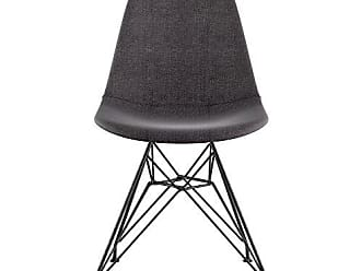 NyeKoncept 331008EM3 Mid Century Eiffel Side Chair, Charcoal Gray