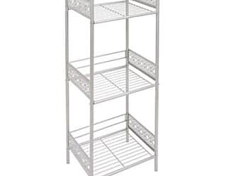 Ashley Furniture Filigree Floor Shelf, White