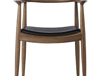 Kardiel Wegner Style Presidential Dining Chair - WEG-PRES-ITLBLK-WAL