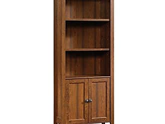 Sauder 416967 Carson Forge Library with Doors, L: 29.33 x W: 12.6 x H: 69.13, Washington Cherry finish