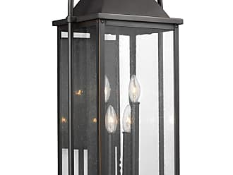Feiss Wellsworth 27 4-Light Outdoor Wall Lantern in Antique Bronze