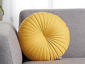 Simons Maison Ochre fine herringbone cushion 35 cm in diameter