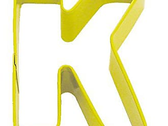 CybrTrayd R&M Durable Cookie Cutter, Monogrammed Letter K, Yellow, Bulk Lot of 12