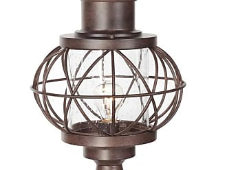 Craftmade Revere 17.88 Clear Seeded Glass Post Mount in Aged Bronze