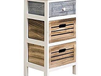 Kommode Schrank Regal Sideboard Holz Nachttisch Braun Shabby Vintage Stil